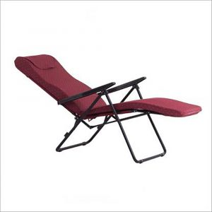 Luxor Maroon Portable Folding Recliner Chair