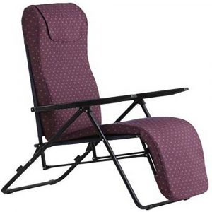 Luxor Purple Portable Folding Recliner Chair