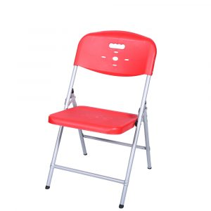 Luxor Red Portable Folding Chair