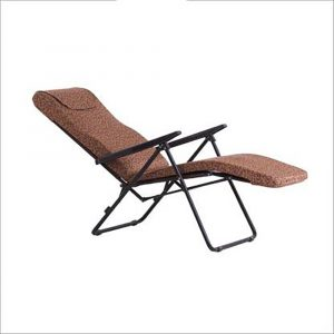 Luxor Rust Portable Folding Recliner Chair