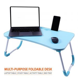 Cloud Cobalt Blue Foldable Multi-Purpose Laptop Table