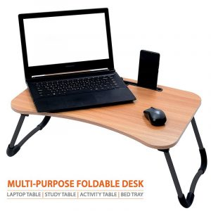 Cloud Maple Wood Foldable Multi-Purpose Laptop Table