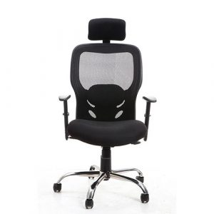 Atom High Back Black Executive Chair