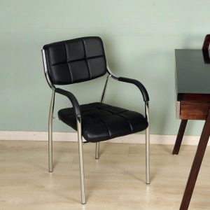 Spark low back Black Fixed Armrest Chair