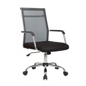 Zonic Mid Back Mesh Black Fixed Armrest Chair