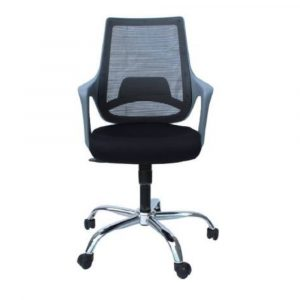 Latvia low back Black Fixed Armrest Chair