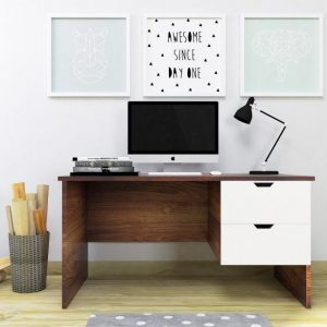 Rome Engineered Wood Office Table with 2 Drawers